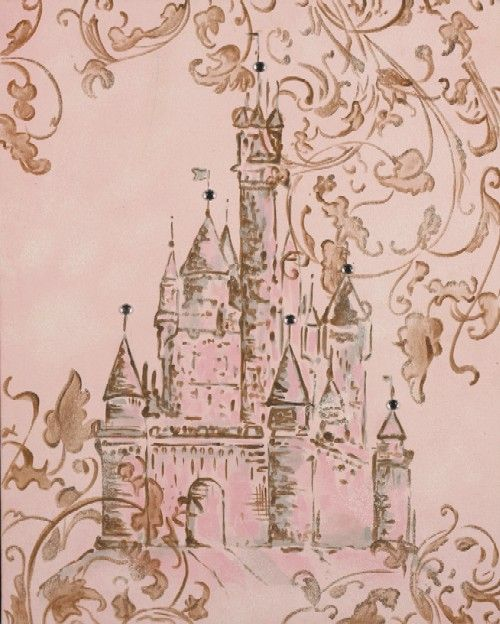 Princess Wall Art hand painted castle wall art | castles, canvases and google images