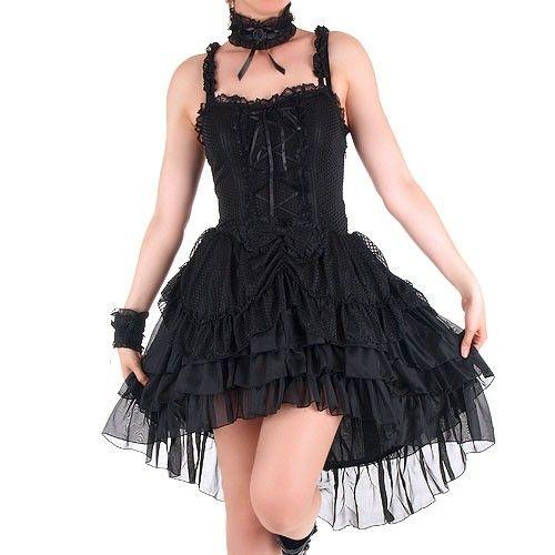 Black Gothic Lolita Dress  http://www.crazyinlove.uk.com/gothic-dresses/2888-black-gothic-lolita-dress.html