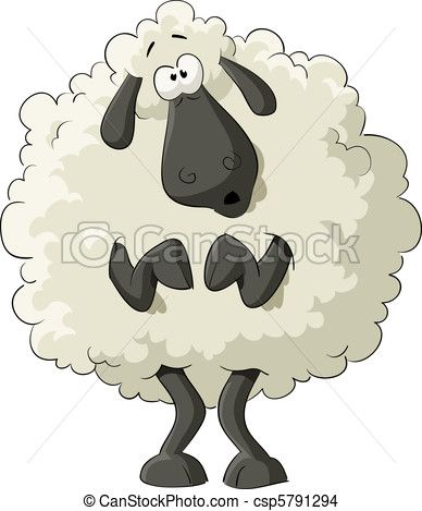 Vector Sheep Stock Illustration Royalty Free