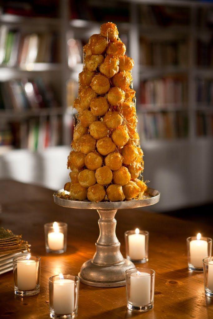 Caramel Croquembouche Holiday Tree Foodchannel Recipes Recipe Caramel