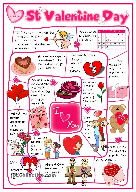 St Valentine S Day Board Game Valentine Reading Valentines