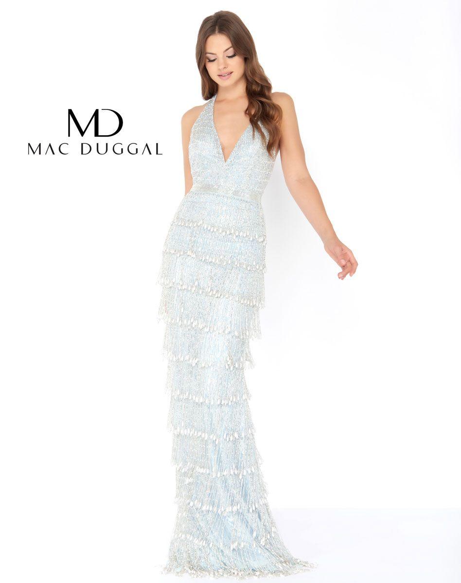 Beader halter prom gown vestidos pinterest full fringe beaded