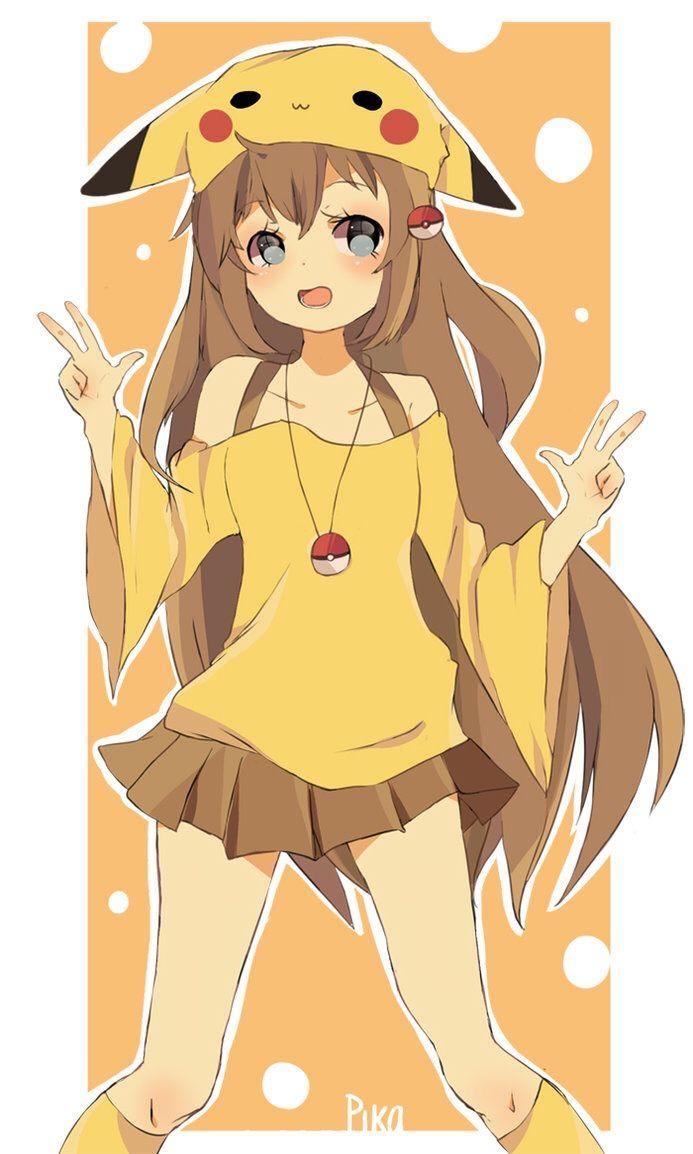 Cute-pika-girl-pikachu-10-10-10.jpg (10×10)  Anime
