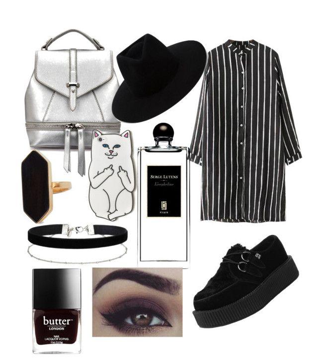 """Smokey"" by casteleynjessy on Polyvore featuring mode, Chicnova Fashion, T.U.K., rag & bone, Miss Selfridge, Serge Lutens, Jaeger, RIPNDIP, Benefit en black"