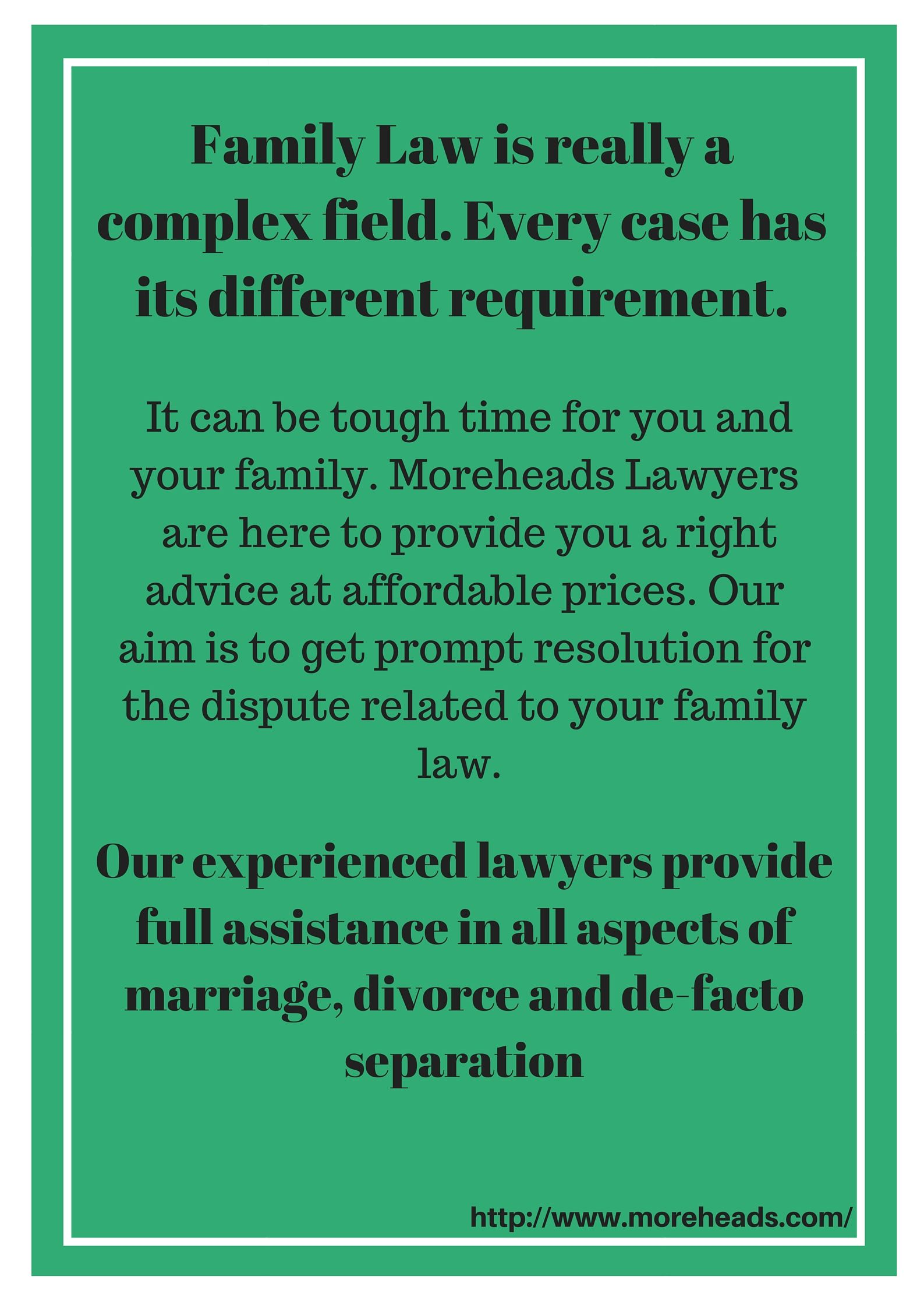 Family Law Is Really A Complex Field Every Case Has Its
