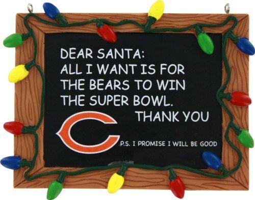NFL Unisex Resin Chalkboard Sign Ornament