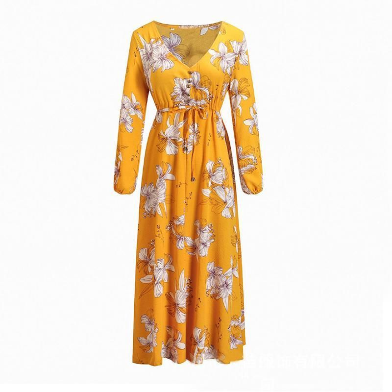 6f195d65c75  AdoreWe  Lukalula -  lukalula Maternity Floral Print V-Neck Long Sleeve  Maxi Dress - AdoreWe.com