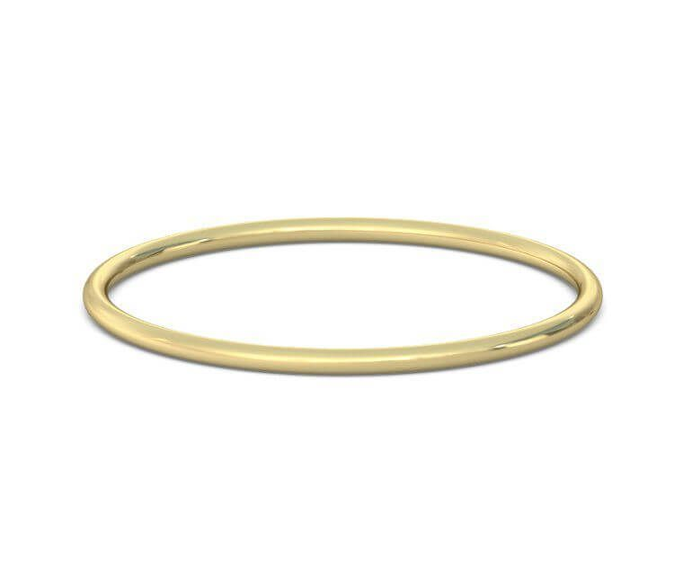 14K Yellow Gold 3mm Lightweight Comfort Fit Band Ring