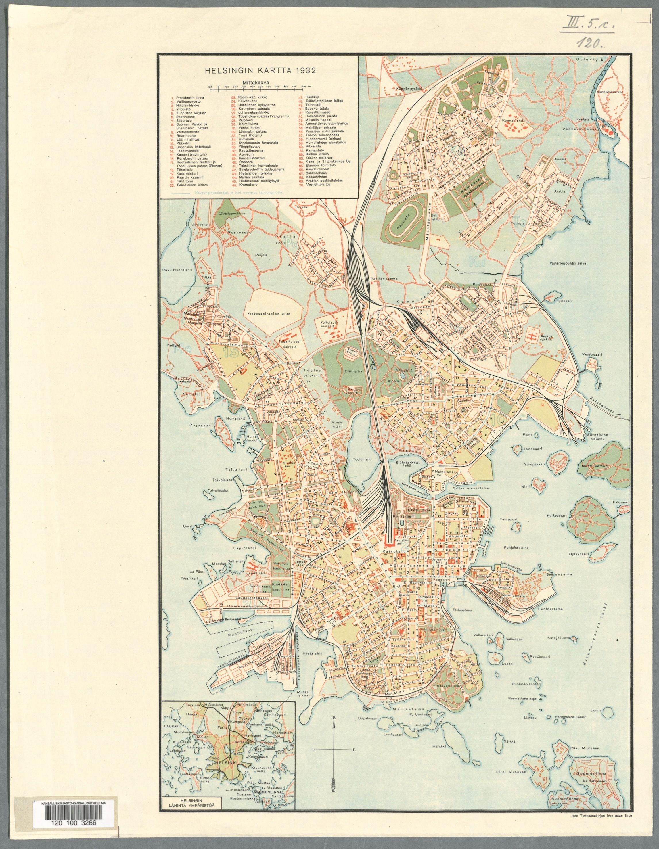 Map Of Helsinki 1932 Map Helsinki Vintage World Maps