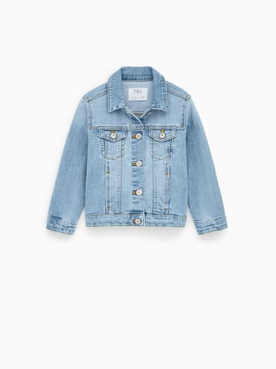 dad33b210 ZARA - Unisex - Basic denim jacket - Light blue - 11-12 years (59,8 ...