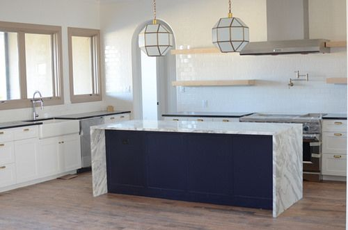 Benjamin Moore New York State Of Mind Kitchen Island