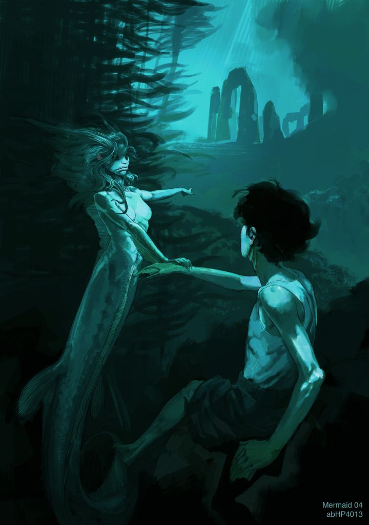Harry And Mermaid Harry Potter And The Goblet Of Fire Concept Art