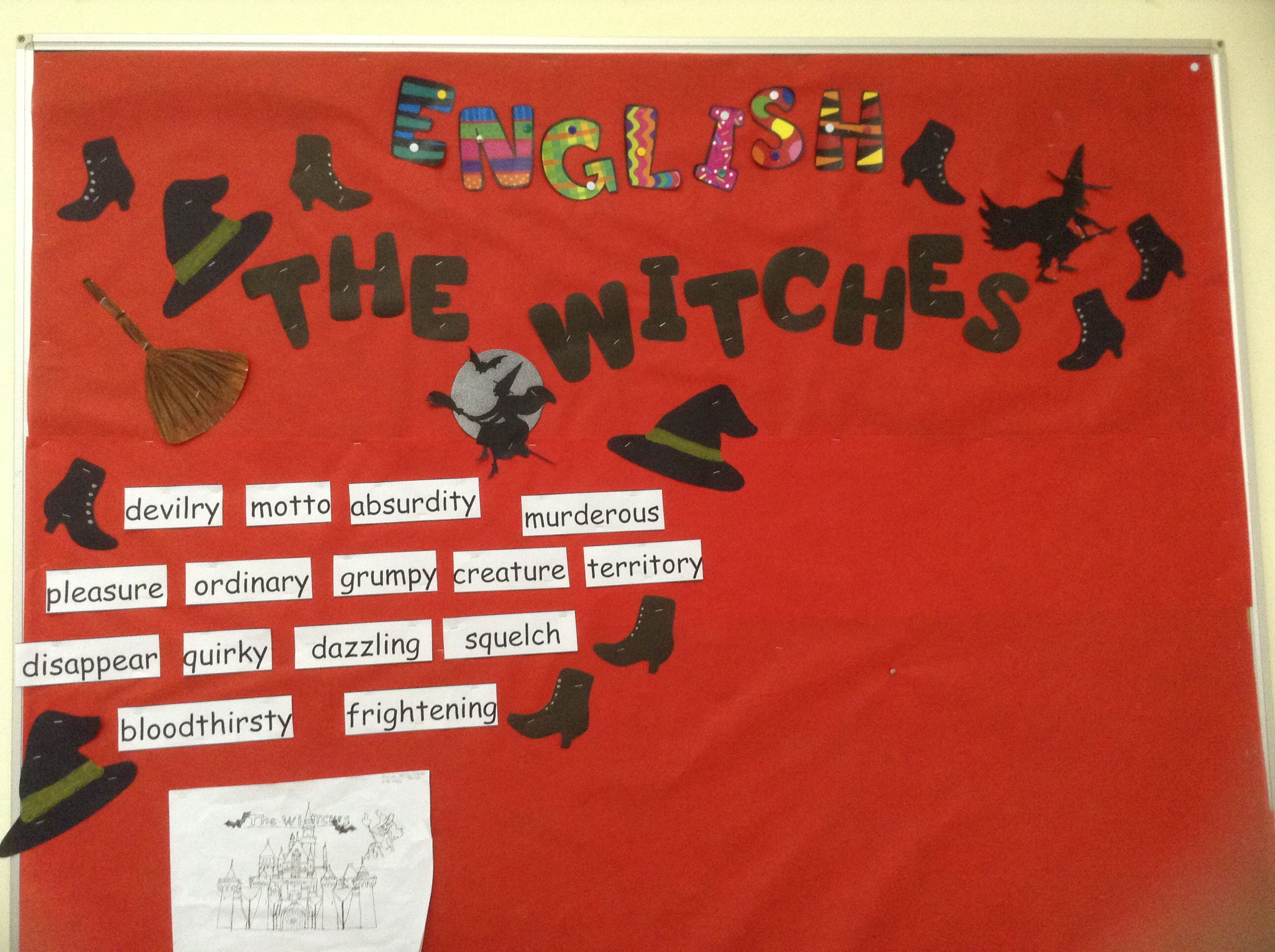 Bulletin Board Idea For The Witches Written By Roald Dahl