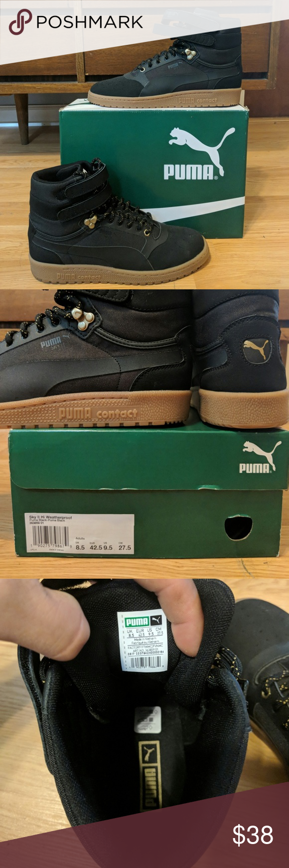 Mens Puma Sky II Hi Weatherproof Shoes These hightop Pumas are a ridiculous  need in the 5be20bf01