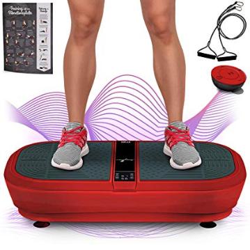 Sportstech Profi Vibrationsplatte Vp300 Mit 3d Wipp Vibrations Technologie Bluetooth A2dp Musik Riesige Flache 2 Kraftvo Vibrationsplatte Wippe