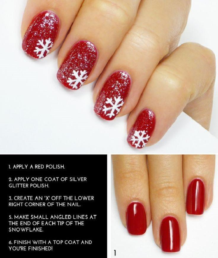 Cute Snow Flake Nail Art Tutorial | Snow flakes, Art tutorials and ...