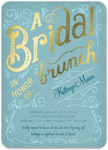 Bridal brunch shower foil invitations wedding paper divas bridal bridal brunch 5x7 bridal shower invitation shutterfly filmwisefo