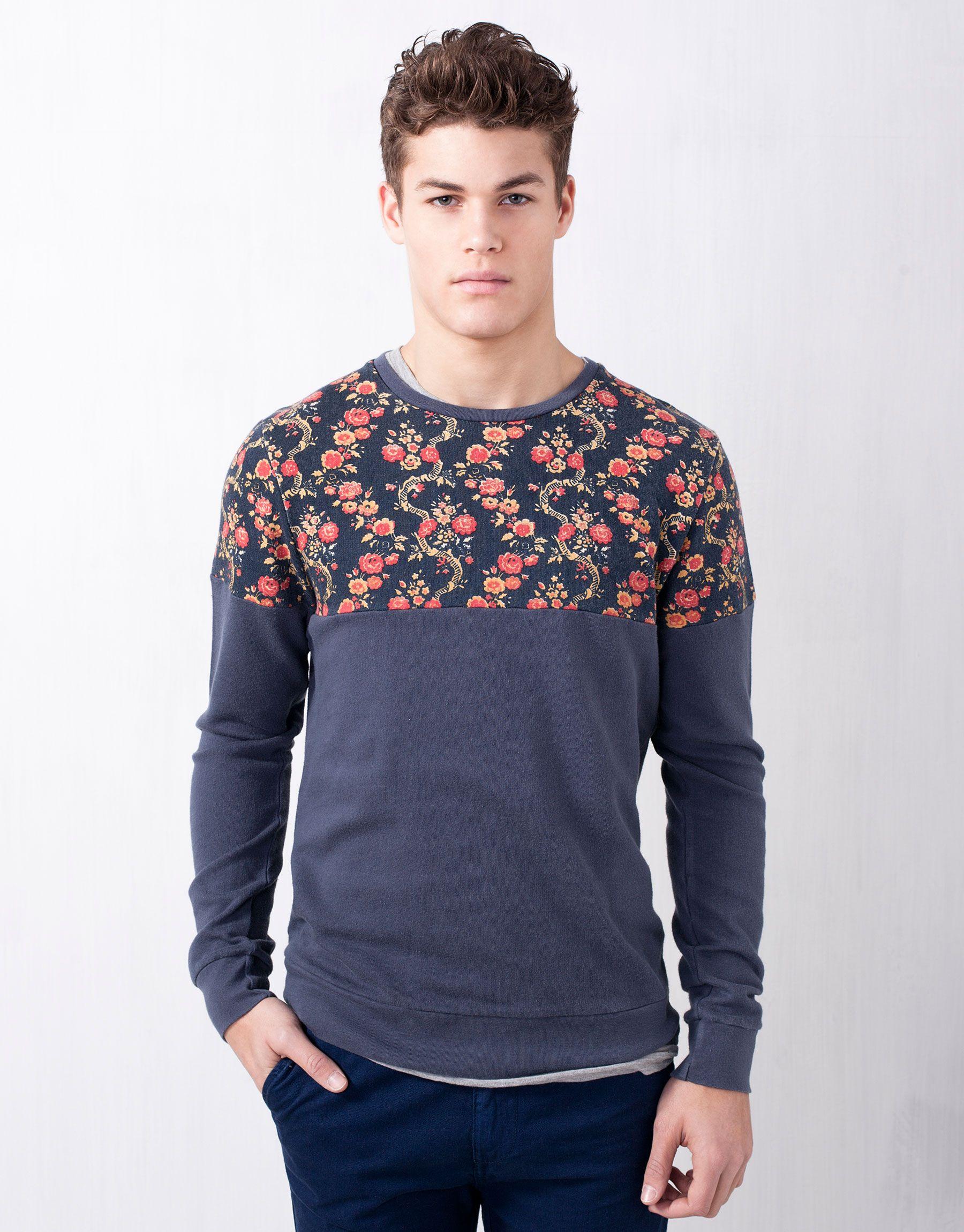Sweatshirts Man Pull Bear Hungary Ropa De Hombre Sudaderas Ropa