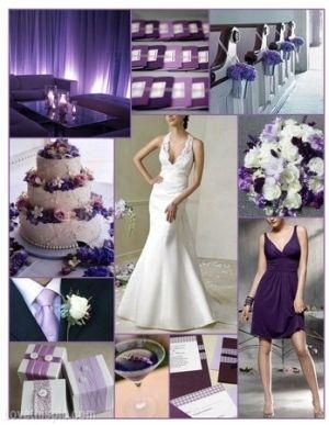Purple Wedding Ideas Dress Cake Bride Inspiration Decorate Bridesmaid Keywords Purplethemedweddinginspiration