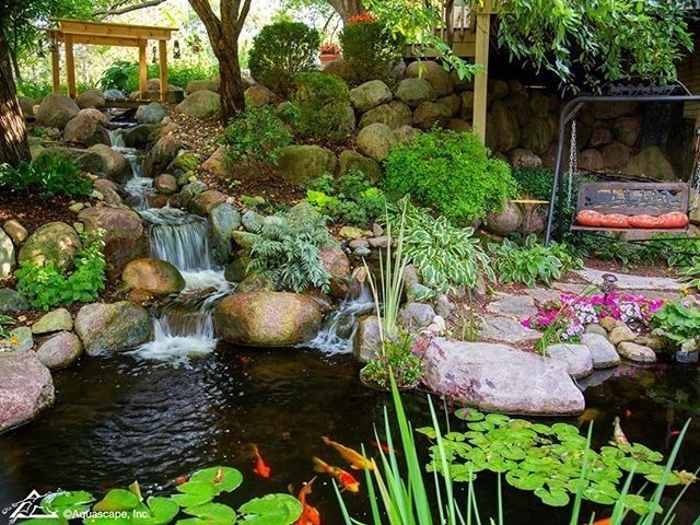 50 Diy Garden Pond Waterfall Ideas