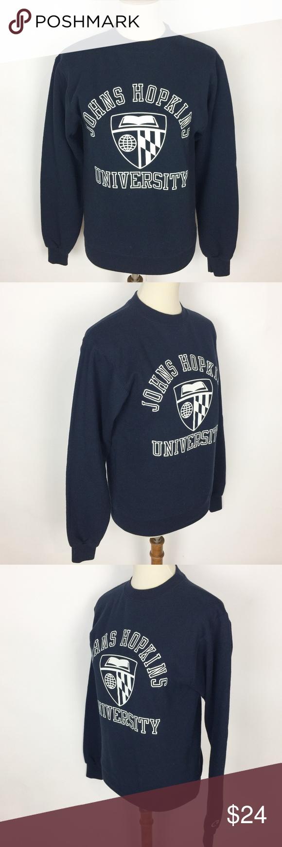 Johns Hopkins University Crewneck Sweatshirt Crew Neck Sweatshirt Sweatshirts Sweatshirt Tops [ 1740 x 580 Pixel ]