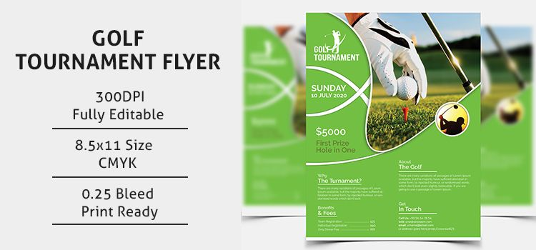 Golf Tournament Flyer Template  Flyers Design    Flyer