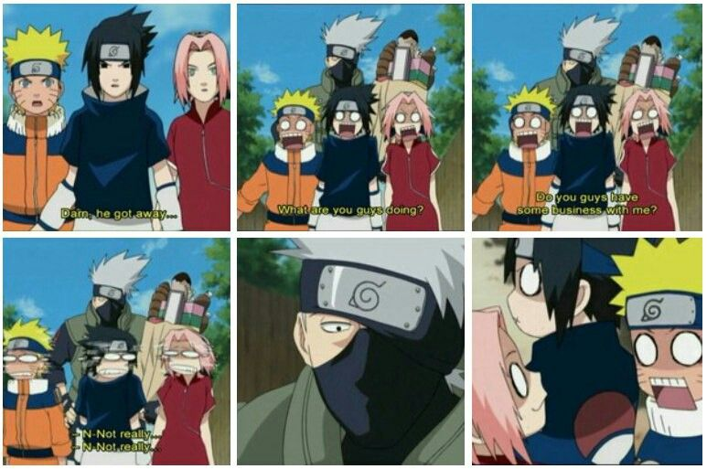 When they try to know exactly why kakashi wearing mask
