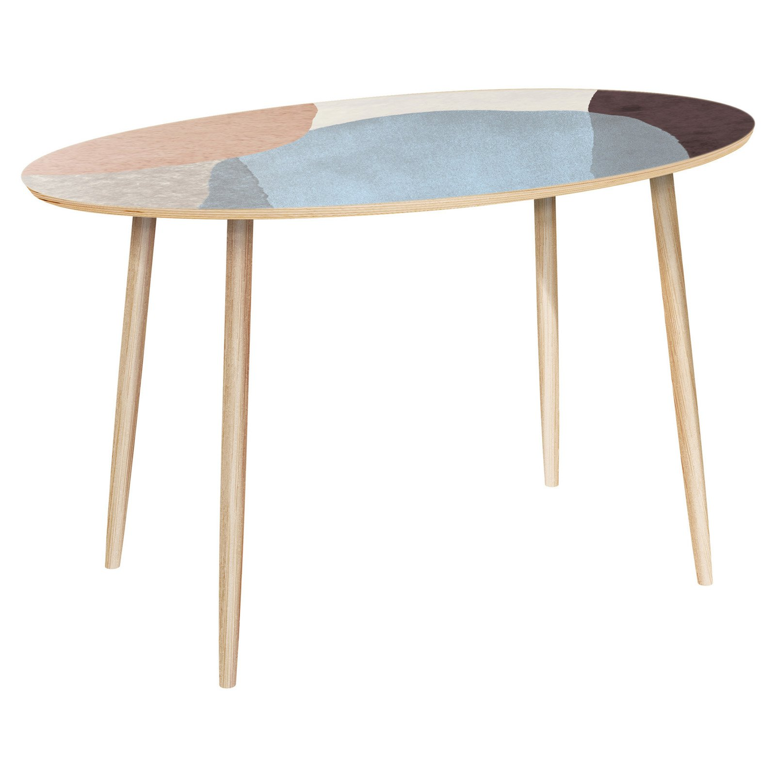Nyekoncept Ondine Dowel Nordic Watercolor Console Table Console