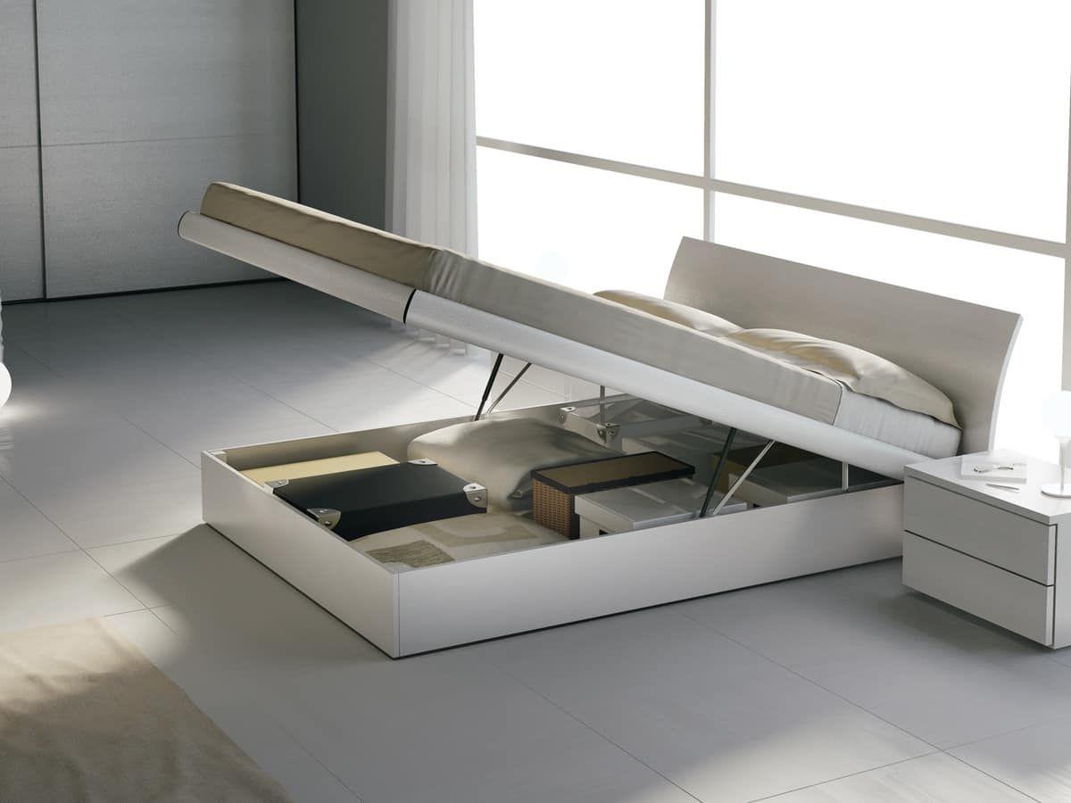 Letto Matrimoniale In Legno Con Box Contenitore.Pin Su Home Organization