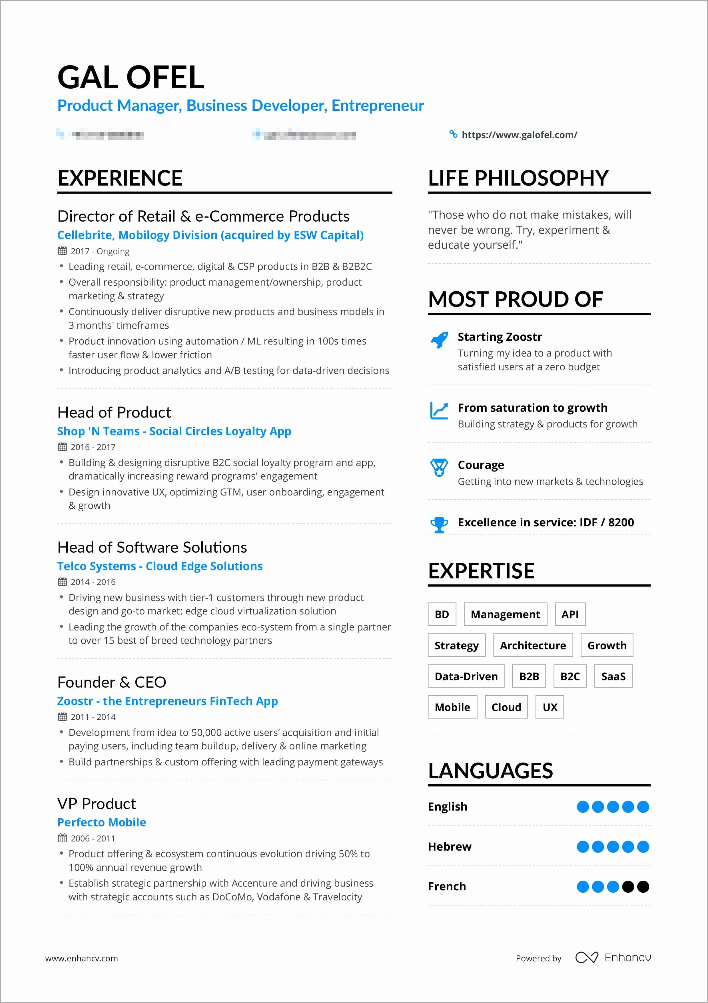 One Page Resume Examples Inspirational A Powerful One Page