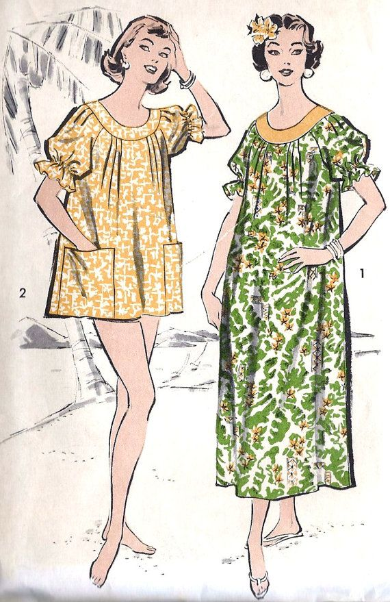 1950s Misses MuuMuu | 50s | Pinterest