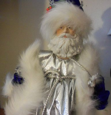 1988 Enesco Santa Claus Limited Edition Doll Blue Coat Cheryl Johnson Stars Vtg | eBay