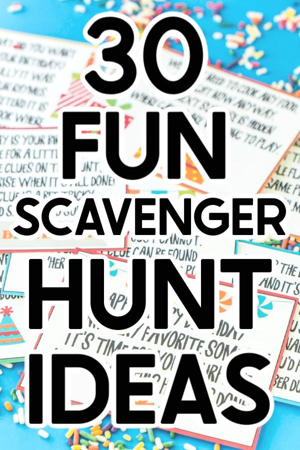 30 Fun Scavenger Hunt Ideas Outdoor birthday, Scavenger