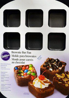 Brownie Bar Pan By Wilton Brownie Bar Brownie Sundae Baking