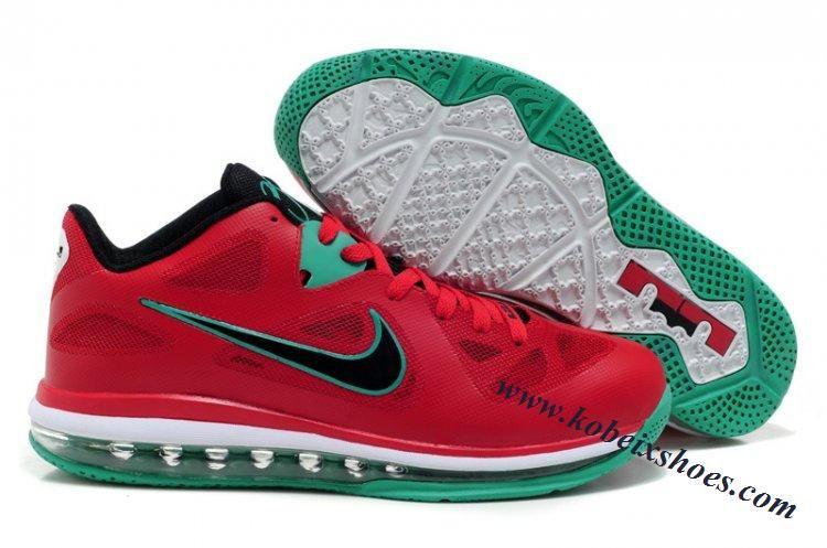 Nike Lebron 9 Low Liverpool Red Black  08b5aaf48d9f