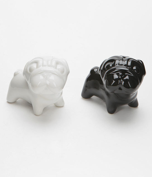 Pug Love - salt + pepper shakers