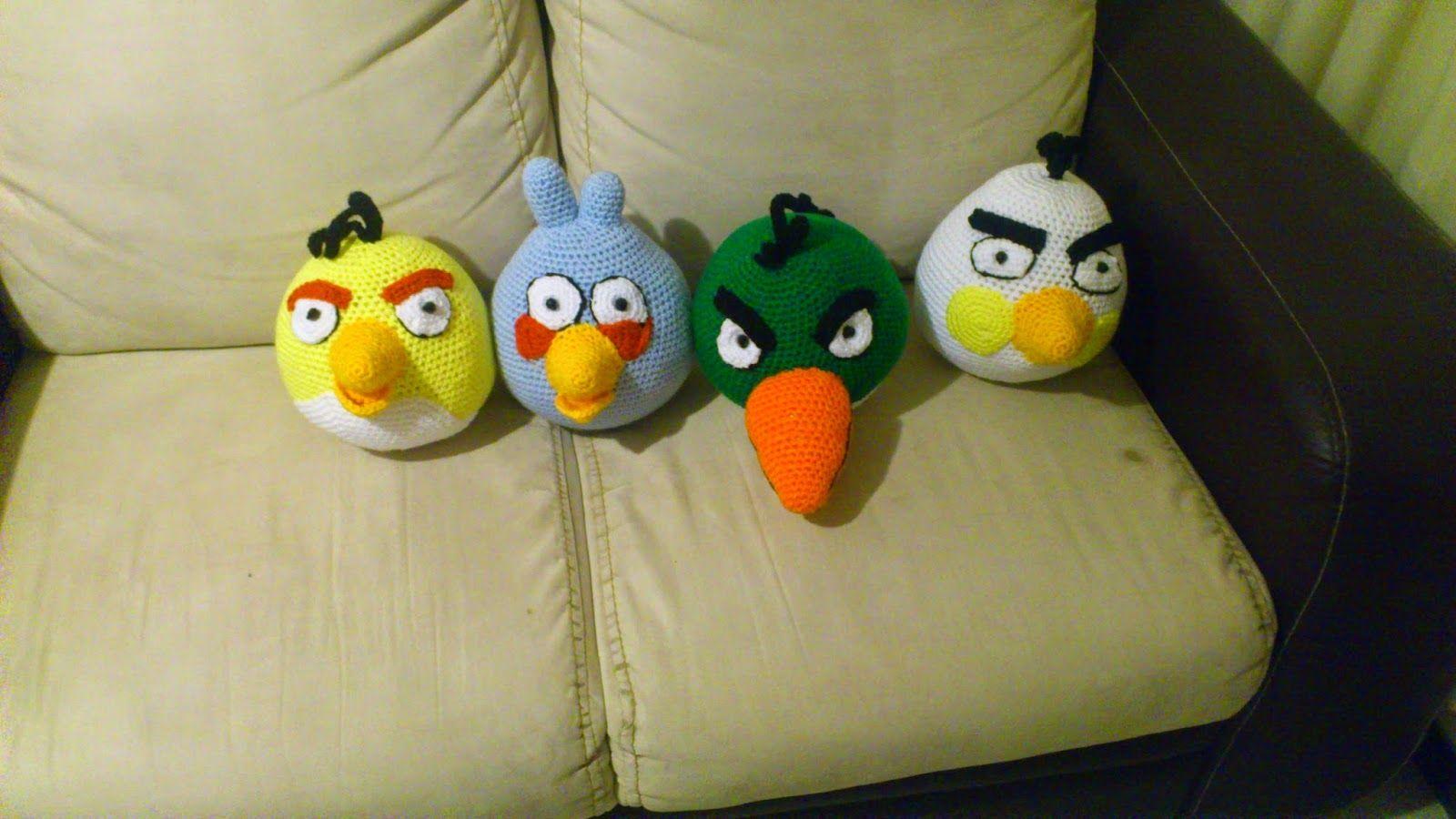 Novedades Jenpoali Patron Angry Bird Amarillo Azul Verde Y Blanco