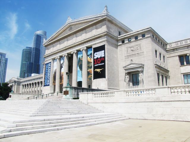 The Chicago Field museum on Museum Campus Chicago Architecture