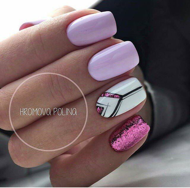 Colorful Nails Delicate Nails Foil Nail Art Ideas Of Colorful