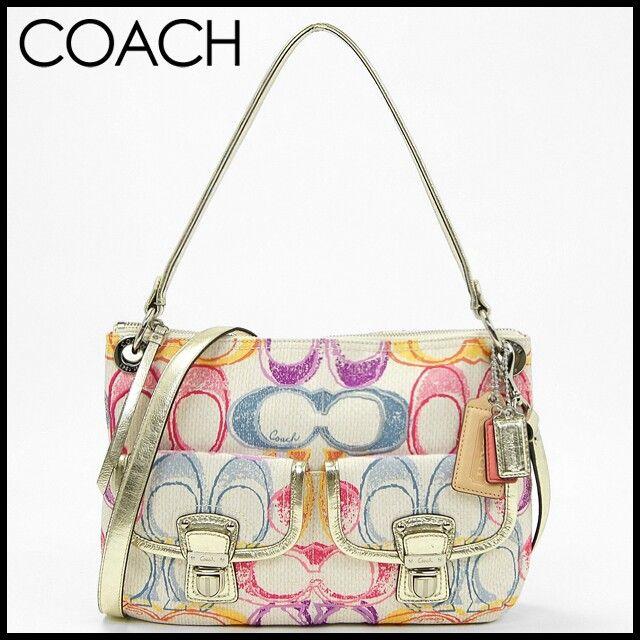 My newest addition, Coach 19030 Poppy Graphic Dream C Signature Hippie Bag Purse Crossbody
