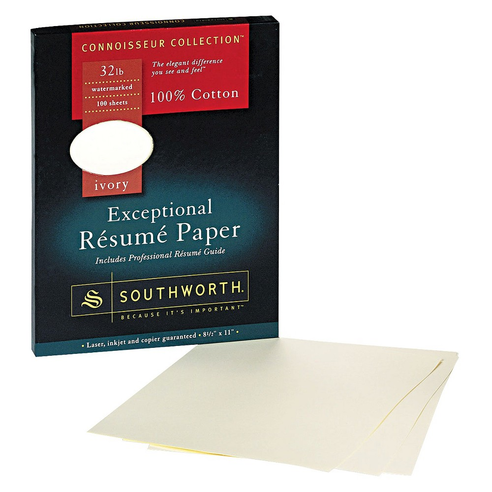 Southworth Cotton Resume Paper Ivory White Products Cover
