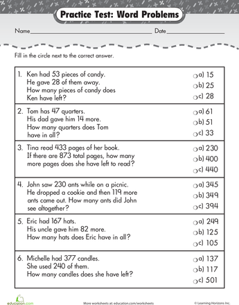 2nd Grade Math Learning Resources Page 5 Education Com Addition Words Subtraction Word Problems Math Word Problems