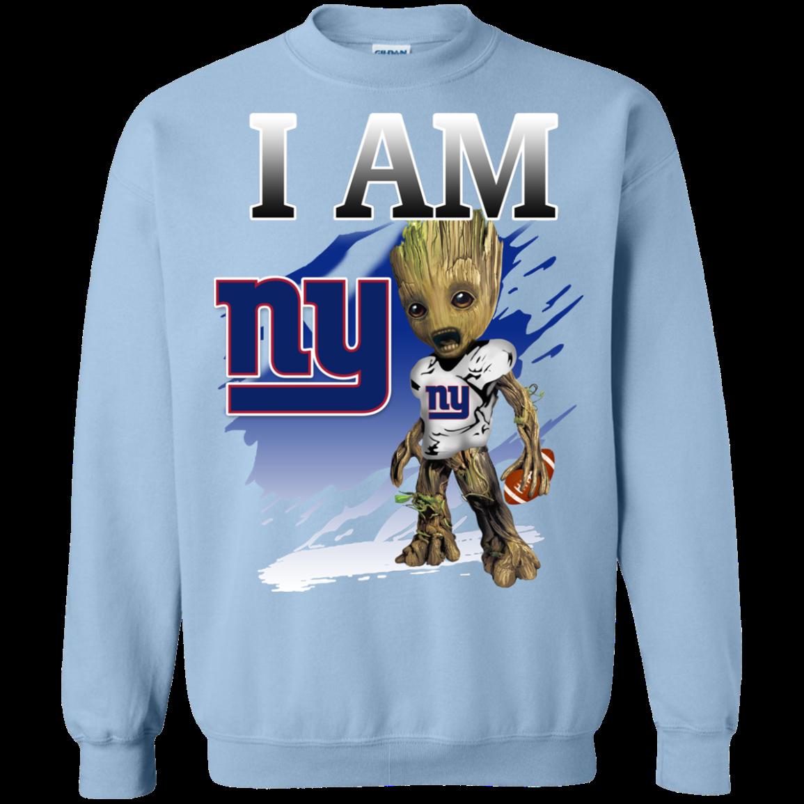 da822ab5c New York Giants Groot I Am New Color T shirts Guardians Of The Galaxy  Hoodies Sweatshirts