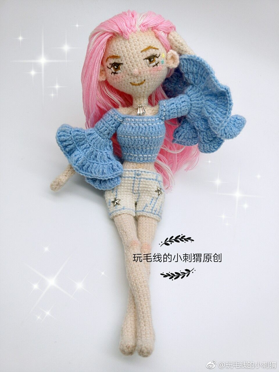 Pin by Apple yang on Weibo微博 | Crochet doll, Crochet dolls ... | 1280x960