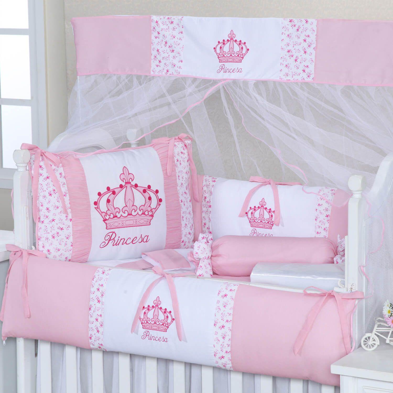 1d3c7e729bd1b O Kit Berço Imperial Rosa traz as coroas de princesa para o quarto de  menina cor de rosa de forma delicada e com muito bom gosto!
