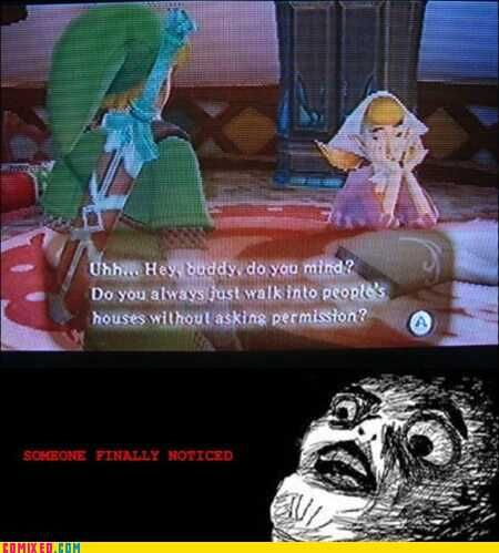 Lol, someone finally noticed Link in creeper mode!