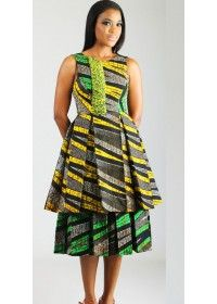 Loving this two level @duabaserwa ankara dress