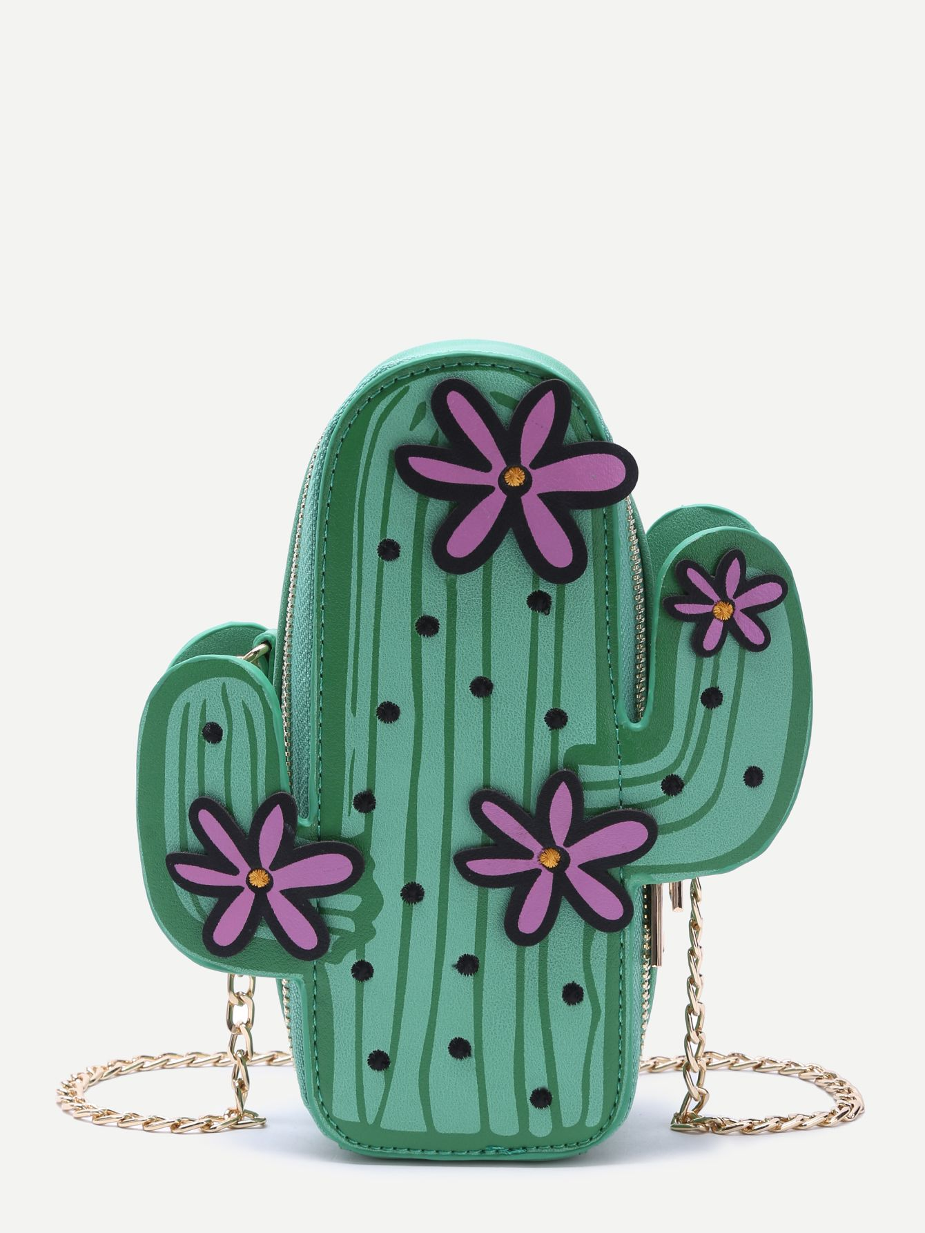 VIDA Statement Clutch - PURPLE PRICKLY CACTI by VIDA z14lu