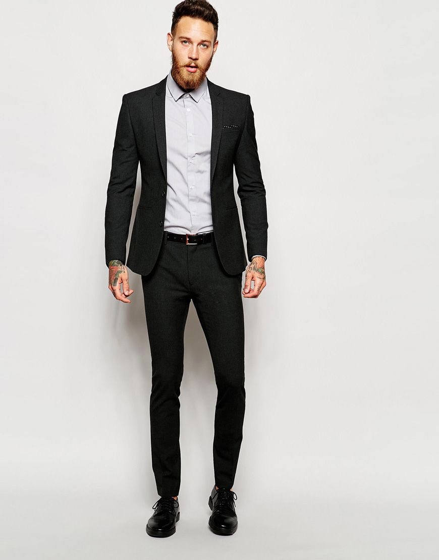 34e9b86c5867 Image 1 of ASOS Super Skinny Suit in Charcoal | dressing up in 2019 ...