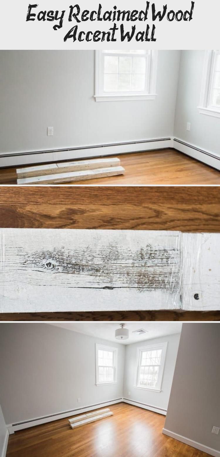 Easy Reclaimed Wood Accent Wall | Reclaimed wood accent ...